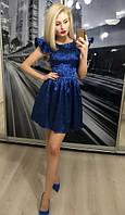 Платье коктельное электрик