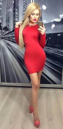 Платье коктейльное с бантом сзади, красное, фото 2