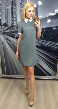 Платье прямого силуэта ft-233 серое, фото 2