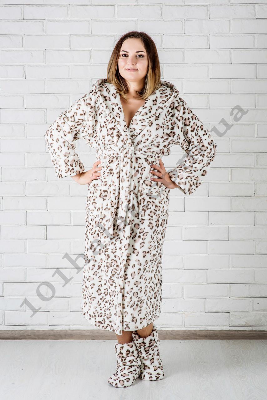 c978ebdfbb598 Халат женский махровый леопардовый - Интернет-магазин