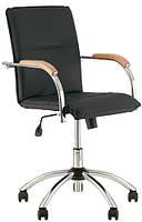 Кресло Самба Новый Стиль черное со светлыми подлокотниками (Samba GTP) V-14/1.007