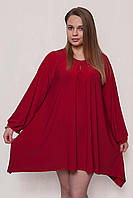Женское свободное платье с длинным рукавом