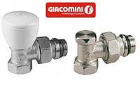 Краны радиаторные угловые 1/2 Giacomini (комплект)