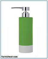 Дозатор для жидкого мыла Флоренция зеленый керамический