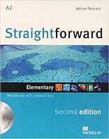 Straightforward Second Edition Elementary Workbook + CD with Key (тетрадь с ответами и диском)
