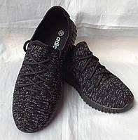 """Кроссовки для подростков """"Adidas YZY"""" №7205-7 (черные)"""