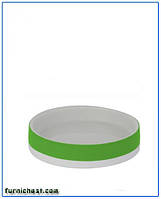 Мыльница для ванной Флоренция зеленая керамическая