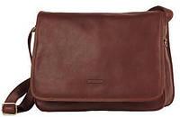 Мужская сумка через плечо формат А4 горизонтальная Katana  Коричневый (каштан)