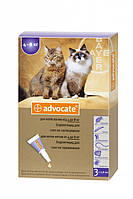 Advocate (Адвокат) Капли от блох, клещей и гельминтов для кошек весом от 4 до 8 кг - 1 пипетка