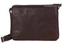 Мужская сумка через плечо формат А4 горизонтальная Katana  Темно-коричневый (шоколад)