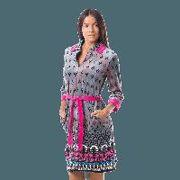 Домашний велюровый халат