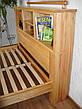"""Двуспальная кровать с полками в изголовье из массива дерева """"Комби"""" от производителя, фото 5"""
