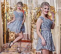 Легкое шифоновое  платье, с цветочным принтом.