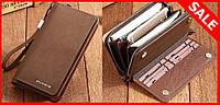Портмоне (бумажник, кошелек) мужской коричневый мода 2016