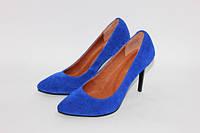 Женские туфли лодочки из натурального замша, возможен отшив в других цветах кожи и замша