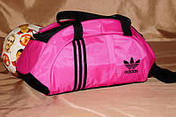Спортивная сумка Adidas модель M-530. ХИТ ПРОДАЖ!!! (Розовый+черный) . Отличное качество - лучшая цена! , фото 1