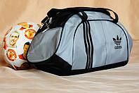 Спортивная сумка Adidas модель M-530.(серый+черный) ХИТ ПРОДАЖ!!! личное качество - лучшая цена! се, фото 1