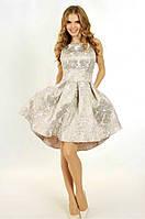 Платье №0611, бежевое, размер 36. Цена розницы 1620 гривен.