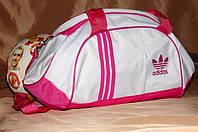 Спортивная сумка Adidas модель M-530. (белый+розовый) .ХИТ ПРОДАЖ!!! Отличное качество - лучшая цена! , фото 1