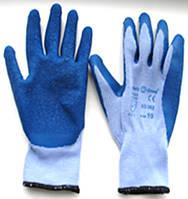 Трикотаная перчатка покрытая вспененым латексом