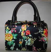 Женская сумка с цветочным принтом