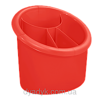 Подставка для столовых приборов (овал) Красный
