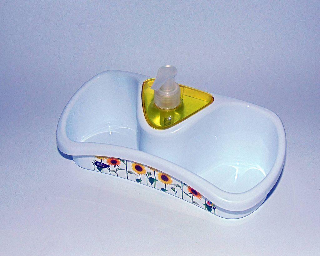 Кухонная полочка с дозатором для моющего средства