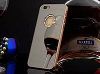 Пластиковый чехол с камнями и золотыми ободами для Iphone 6/6S