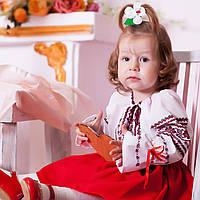 Детская вышиванка для девочки (домотканая ткань, ручная робота, 3 лет), фото 1