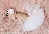 Спідниця-пачка для дівчинки біла, фото 3