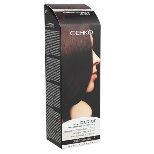 C:EHKO С:COLOR Крем-краска (Темный шоколад, 57) 50мл
