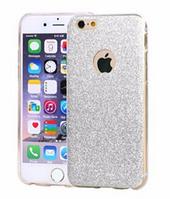 Cиликоновый переливающийся серебряный чехол для Iphone 6/6S