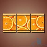 Модульная картина Апельсины из 3 фрагментов