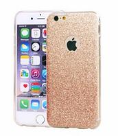 Силиконовый переливающийся чехол красное золото для Iphone 6/6S