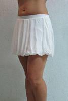 Женская юбка-шорты Adidas (44950) белая код 0118 Б