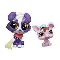 Hasbro Littlest Pet Shop Зверюшка и ее малыш: Pet Pawsabilities Shep Shetland и Bitsy Mudinsky