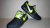 Кроссовки спортивные Nike roshe run (зеленые, сетка)