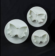 8767 Плунжер 3 шт. Бабочки, кондитерские принадлежности