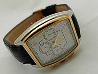 Механические часы РЕКОРД classic, механика с автозаводом, цвет корпуса серебристый, деловой стиль, фото 1