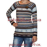 Теплое платье-свитер с орнаментом