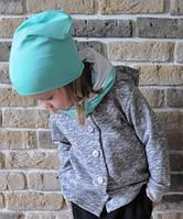Легкая демисезонная кофточка с капюшоном. Унисекс. 110 см, фото 1