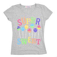 Детские футболки для девочек оптом от 2 до 15 лет