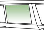 Автомобільне скло задньої двері опускное праве FORD ESCORT IV УН 1990-1998 зелене 3545RGNE5RD