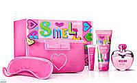Moschino Pink Bouquet  (туалетная вода) 100ml+bl100ml+помада+маска для сна набор