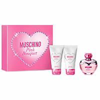 Moschino Pink Bouquet  (туалетная вода) 50ml + bl100ml набор