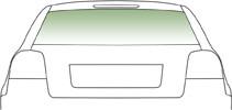 Автомобильное стекло заднее FORD ESCORT III СД 1980-1990 ЭО ЗЛ+АНТ 3534BGNHA