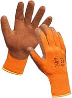 Утепленная трикотажная перчатка покрытая латексом