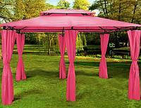 Павильон Topas для сада, отдыха 3х4м., розовый