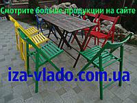 Набор складной мебели: стол + 8 шт. стульев (разноцветный)