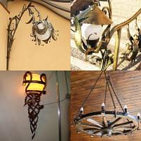 Кованые фонари и светильники на заказ